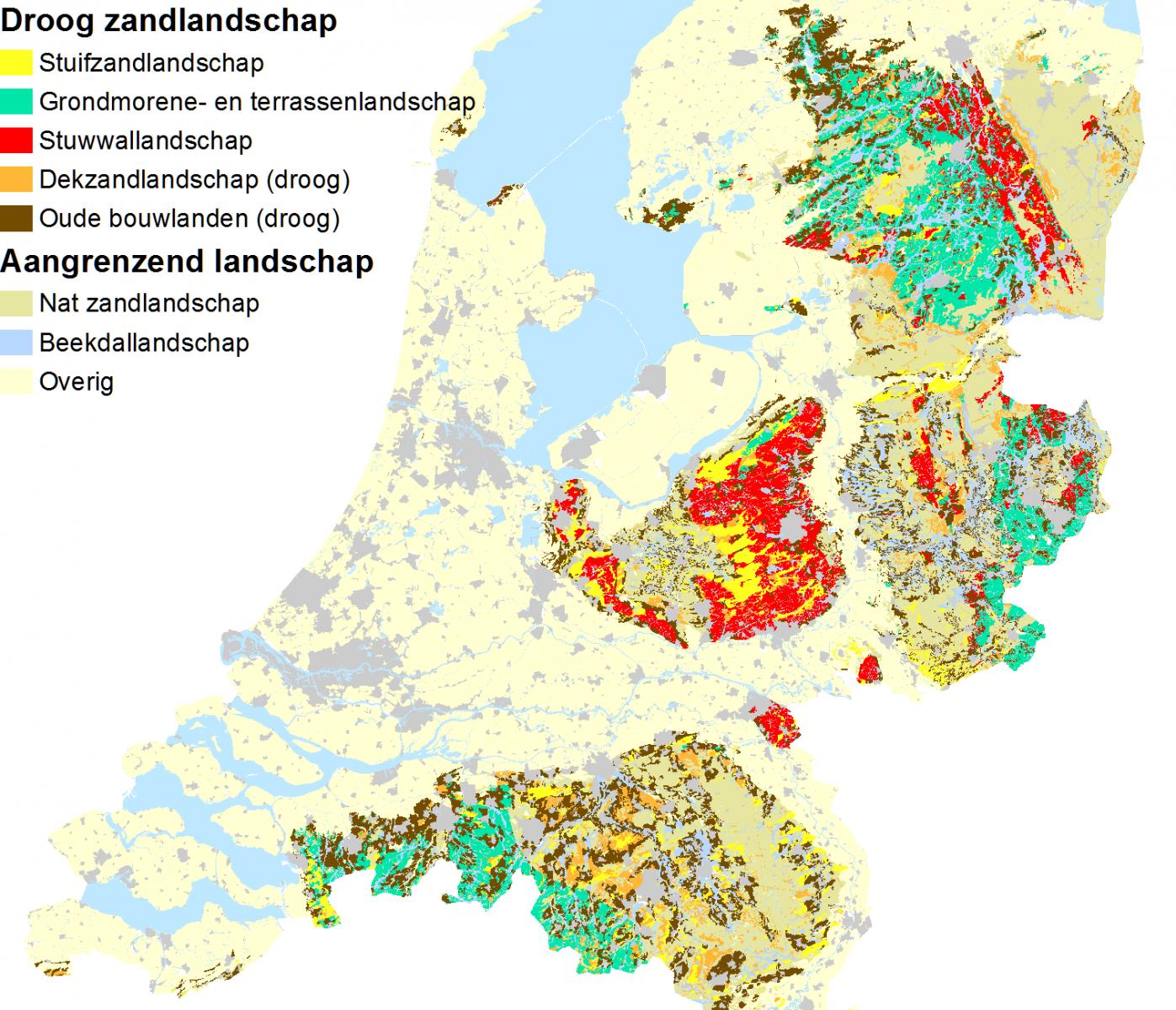 Landschappelijke bodemkaart Droog zandlandschap