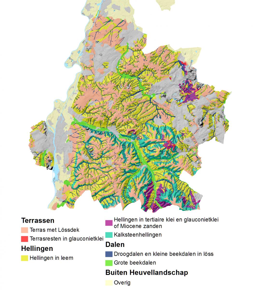 Landschappelijke bodemkaart Heuvellandschap